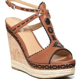 Belle by Sigerson Morrison Aivi Brown Cork Wedges